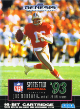 NFL Sports Talk Football '93 Starring Joe Montana Sega Genesis cover artwork