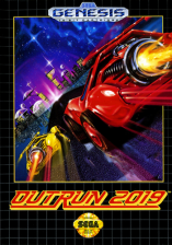 OutRun 2019 Sega Genesis cover artwork