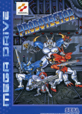 Probotector Sega Genesis cover artwork
