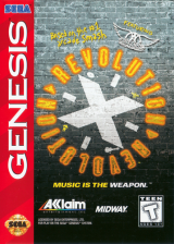 Revolution X Sega Genesis cover artwork
