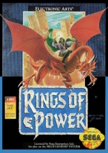 Rings of Power Sega Genesis cover artwork