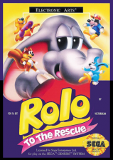 Rolo to the Rescue Sega Genesis cover artwork