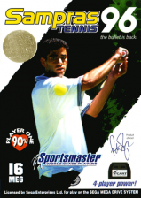 Sampras Tennis 96 Sega Genesis cover artwork