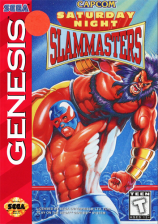 Saturday Night Slammasters Sega Genesis cover artwork