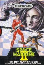 Space Harrier II Sega Genesis cover artwork