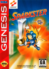 Sparkster Sega Genesis cover artwork