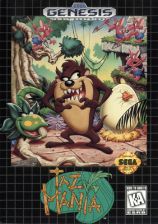 Taz-Mania Sega Genesis cover artwork