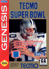Tecmo Super Bowl Sega Genesis cover artwork