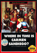 Where in Time Is Carmen Sandiego ? Sega Genesis cover artwork