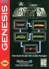 Williams Arcade's Greatest Hits Sega Genesis cover artwork