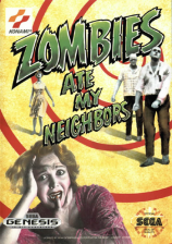 Zombies Ate My Neighbors Sega Genesis cover artwork