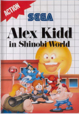 Alex Kidd in Shinobi World Sega Master System cover artwork