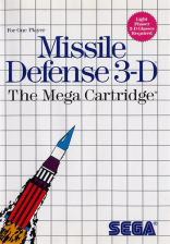 Missile Defense 3-D Sega Master System cover artwork