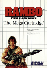 Rambo - First Blood Part II Sega Master System cover artwork