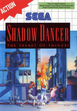 Shadow Dancer Sega Master System cover artwork