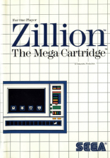 Zillion Sega Master System cover artwork