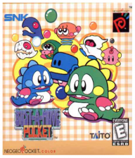 Bust-A-Move Pocket SNK Neo Geo Pocket cover artwork