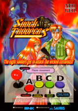 Shock Troopers SNK NEO GEO cover artwork