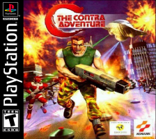 C - The Contra Adventure Sony PlayStation cover artwork