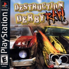 Destruction Derby Raw Sony PlayStation cover artwork