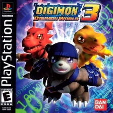 Digimon World 3 Sony PlayStation cover artwork