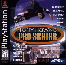 Tony Hawk's Pro Skater Sony PlayStation cover artwork