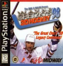 Wayne Gretzky's 3D Hockey '98 Sony PlayStation cover artwork