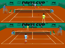 David Cup Tennis, The ingame screenshot