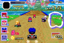 Konami Krazy Racers ingame screenshot