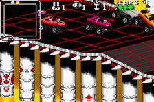 Rock n' Roll Racing ingame screenshot
