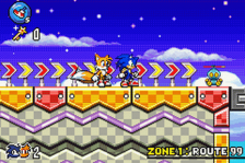 Sonic Advance 3 ingame screenshot