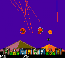 Missile Command ingame screenshot