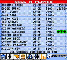 Player Manager 2001 ingame screenshot