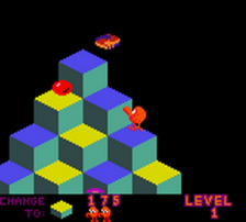 Q-bert ingame screenshot
