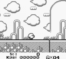 Kirby's Dream Land ingame screenshot