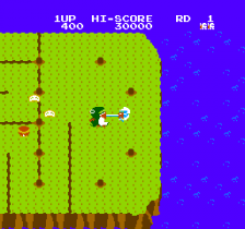 Dig Dug II - Trouble in Paradise ingame screenshot