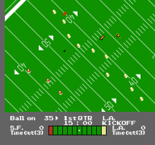 NES Play Action Football ingame screenshot