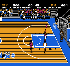 Tecmo NBA Basketball ingame screenshot