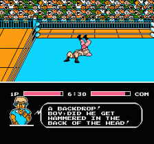 Tecmo World Wrestling ingame screenshot
