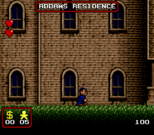 Addams Family, The ingame screenshot