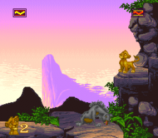 Lion King, The ingame screenshot