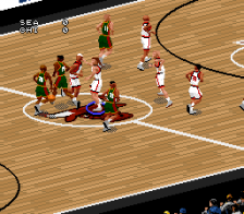 NBA Live' 97 ingame screenshot