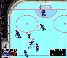 NHLPA Hockey '93 ingame screenshot