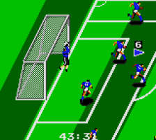 Tengen World Cup Soccer ingame screenshot