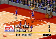 NBA Live 95 ingame screenshot