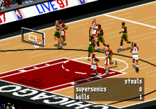 NBA Live 97 ingame screenshot