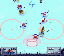 NHL 95 ingame screenshot