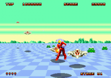 Space Harrier II ingame screenshot