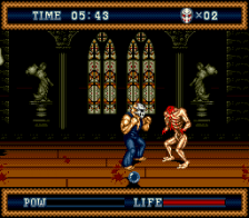 Splatterhouse 3 ingame screenshot