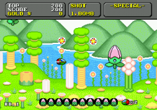 Super Fantasy Zone ingame screenshot